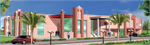 Front View of Stadium & Pavilion of State Level Complex at Kankarbagh, Patna, Bihar